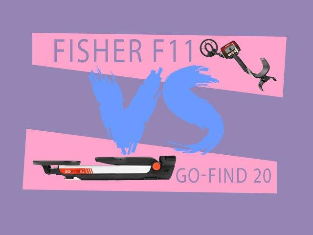 فلزیاب FISHER F11 و فلزیاب MINELAB GO-FIND 20